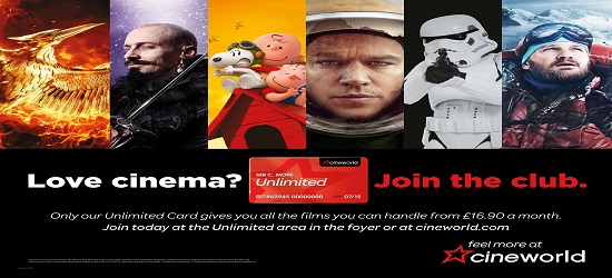 Cineworld - Unlimited Banner 2