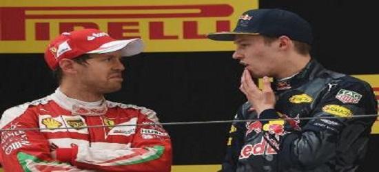 Formula One - Kvyat & Vettel Clash 2