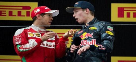 Formula One - Kvyat & Vettel Clash