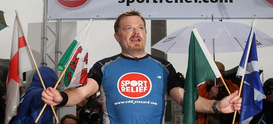 Sports Relief Banner - Eddie Izard
