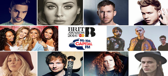 The BRIT's - Capital Radio Banner