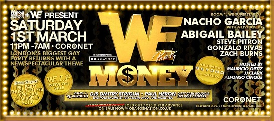 WE Party London - March Banner 2